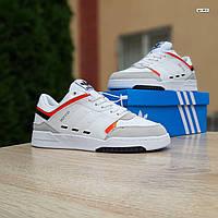 Мужские зимние кроссовки в стиле Adidas Drop Step белые, фото 1