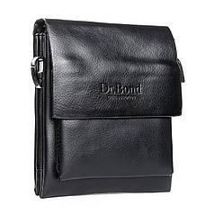 Сумка мужская черная планшет малая на плечевом ремне 19* 16 см Dr.Bond GL 314-0