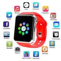 Смарт часы Smart Watch A1, Sim cart + камера, red