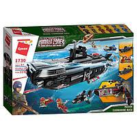 """Конструктор Qman 1730 Combat Zone """"Подводная лодка 2 в 1"""" 1196 дет"""