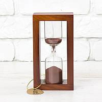 Часы песочные на 5 мин тип 4 исп. 30 170*50*90 мм основание вишня песок коричневый (300600)