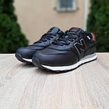 Чоловічі зимові кросівки 574 чорні з коричневим, фото 6