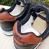 Чоловічі зимові кросівки 574 чорні з коричневим, фото 7