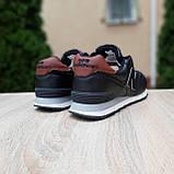 Чоловічі зимові кросівки 574 чорні з коричневим, фото 9