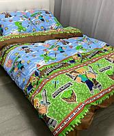 Подростковое постельное белье полуторное Майнкрафт