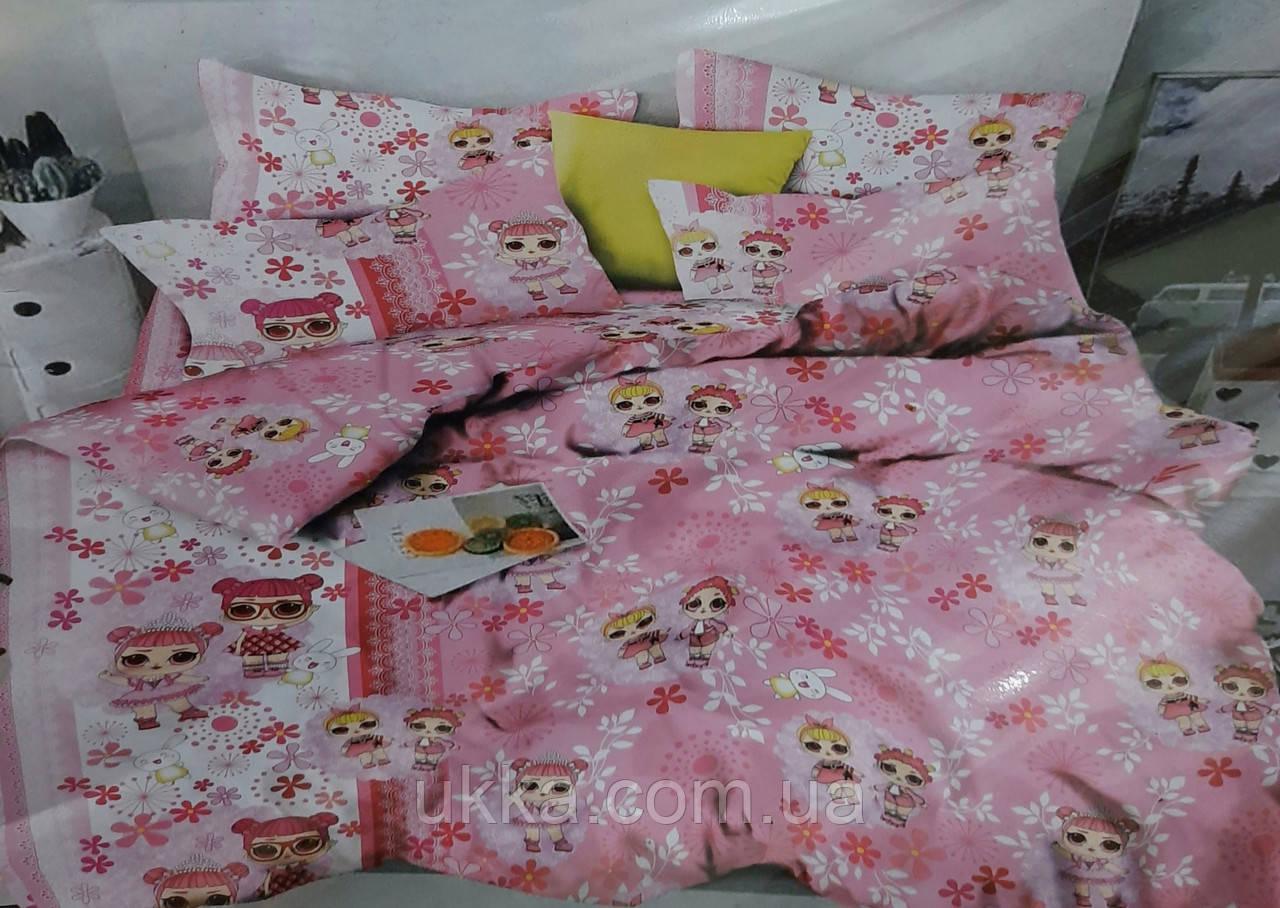 Детское постельное белье полуторное куклы Лол роз