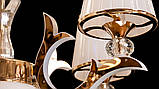 Светодиодная люстра классическая с LED рожками, фото 6