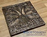 Нарди ручної роботи КОРАБЕЛЬ (70х70 див)