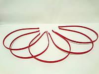 Обруч для волос (металлический) красная лента