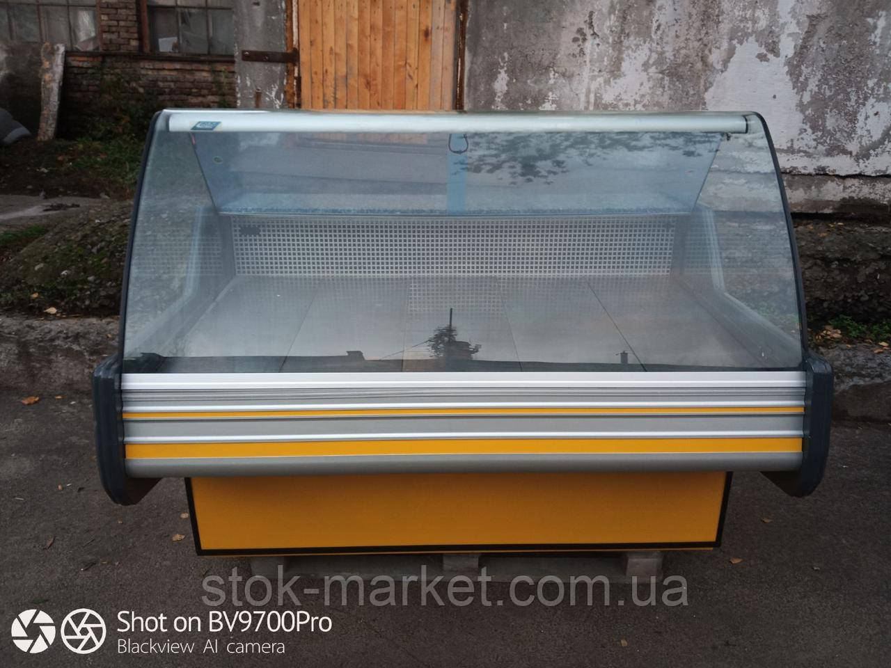 Вітрина холодильна Cold 1.6 м. бу. гастрономічна вітрина бу
