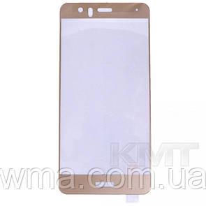 Защитное Стекло Full Cover Half Glue — Huawei P10 Lite — Gold