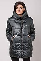 Куртка женская черная супер батал Visdeer 2162
