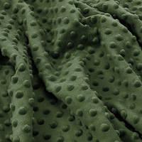 ✁ Відріз плюш Minky зелений пляшковий 100х75 см, фото 1