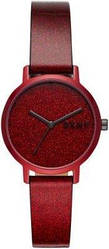 Часы наручные женские DKNY NY2860 кварцевые, бордовые, минималистичные, США