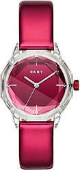 Часы наручные женские DKNY NY2858 кварцевые, с граненым стеклом и глянцевым ремешком, США
