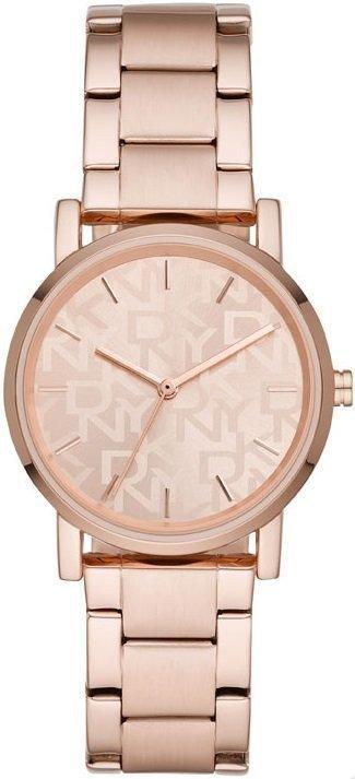Часы наручные женские DKNY NY2854 кварцевые, на браслете, цвет розового золота, США