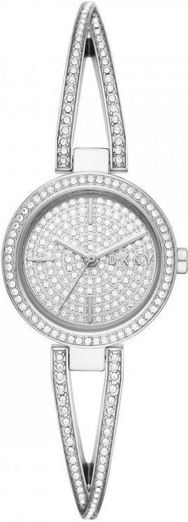 Часы наручные женские DKNY NY2852 кварцевые, с фианитами, серебристые, США
