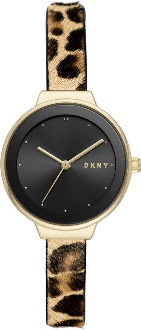 Часы наручные женские DKNY NY2848 кварцевые, леопардовый ремешок, США