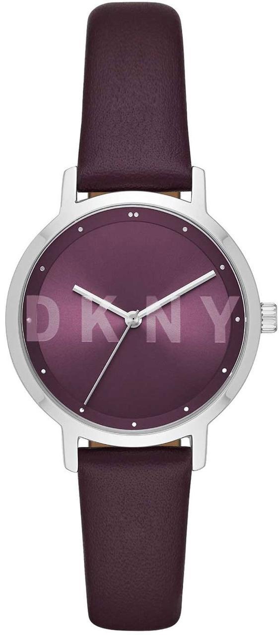 Часы наручные женские DKNY NY2843 кварцевые, фиолетовый ремешок из кожи, США