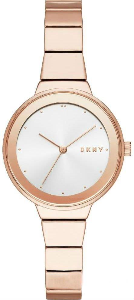 Часы наручные женские DKNY NY2695 кварцевые, цвет розового золота, США