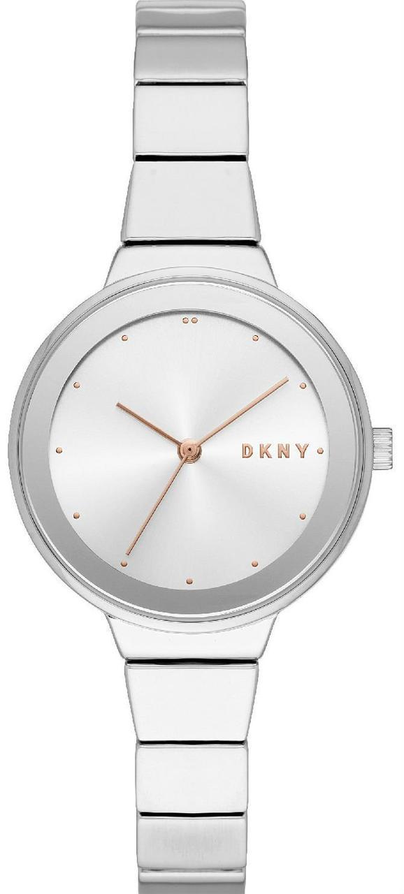 Часы наручные женские DKNY NY2694 кварцевые, на браслете, серебристые, США