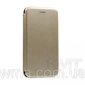 Leather Book Case — Meizu M6T — Gold