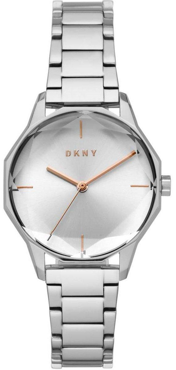 Часы наручные женские DKNY NY2793 кварцевые, с граненым стеклом, серебристые, США