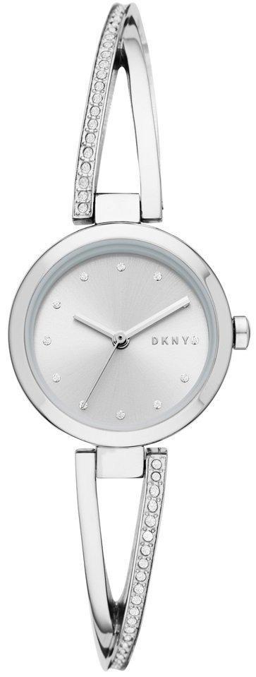 Часы наручные женские DKNY NY2792 кварцевые, с фианитами, серебристые, США