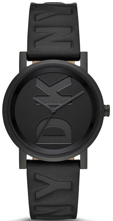 Часы наручные женские DKNY NY2783 кварцевые, черные с крупным логотипом, США