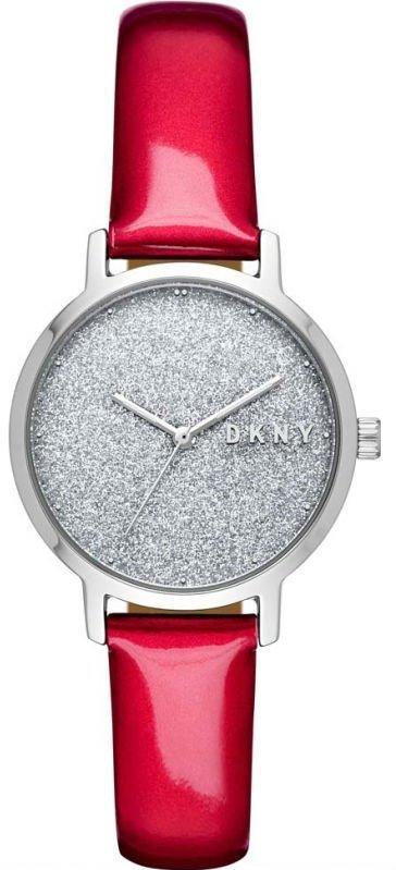 Часы наручные женские DKNY NY2776 кварцевые, с блестками и глянцевым ремешком, США