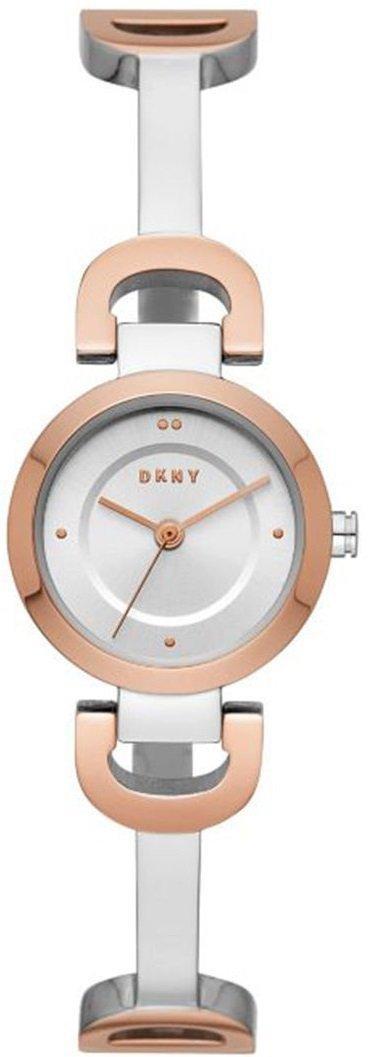 Часы наручные женские DKNY NY2749 кварцевые, с фианитами, биколорные, США