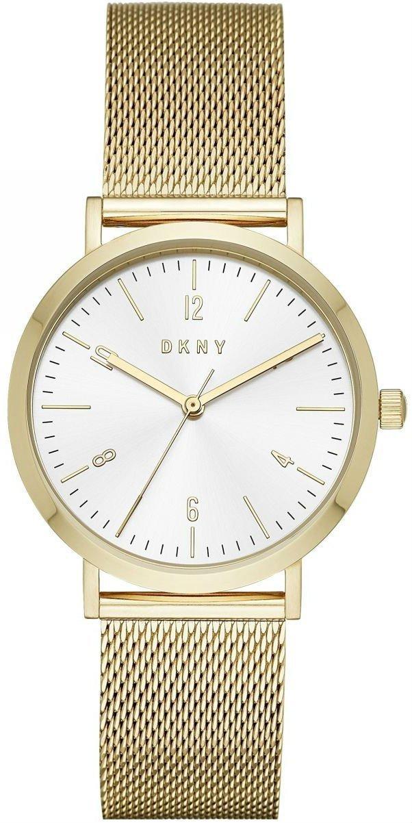 """Часы наручные женские DKNY NY2742 кварцевые, """"миланский"""" браслет цвета желтого золота, США"""