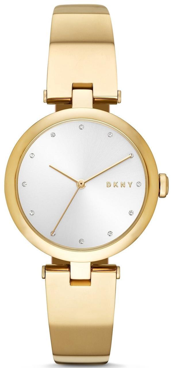 Часы наручные женские DKNY NY2712 кварцевые, с фианитами, цвет желтого золота, США