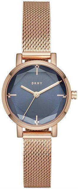 Часы наручные женские DKNY NY2679 кварцевые, с граненым стеклом, цвет розового золота, США