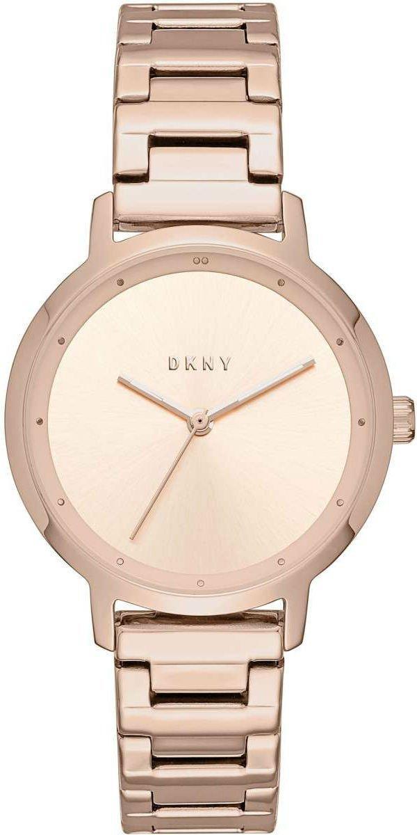 Часы наручные женские DKNY NY2637 кварцевые на браслете, цвет розового золота, США