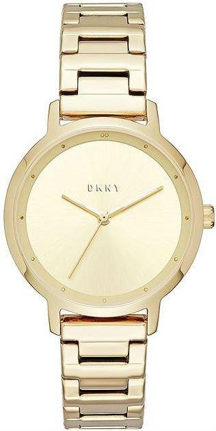 Часы наручные женские DKNY NY2636 кварцевые на браслете, цвет желтого золота, США
