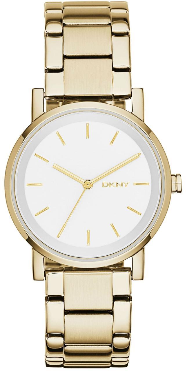 Часы наручные женские DKNY NY2343 кварцевые на браслете, цвет желтого золота, США