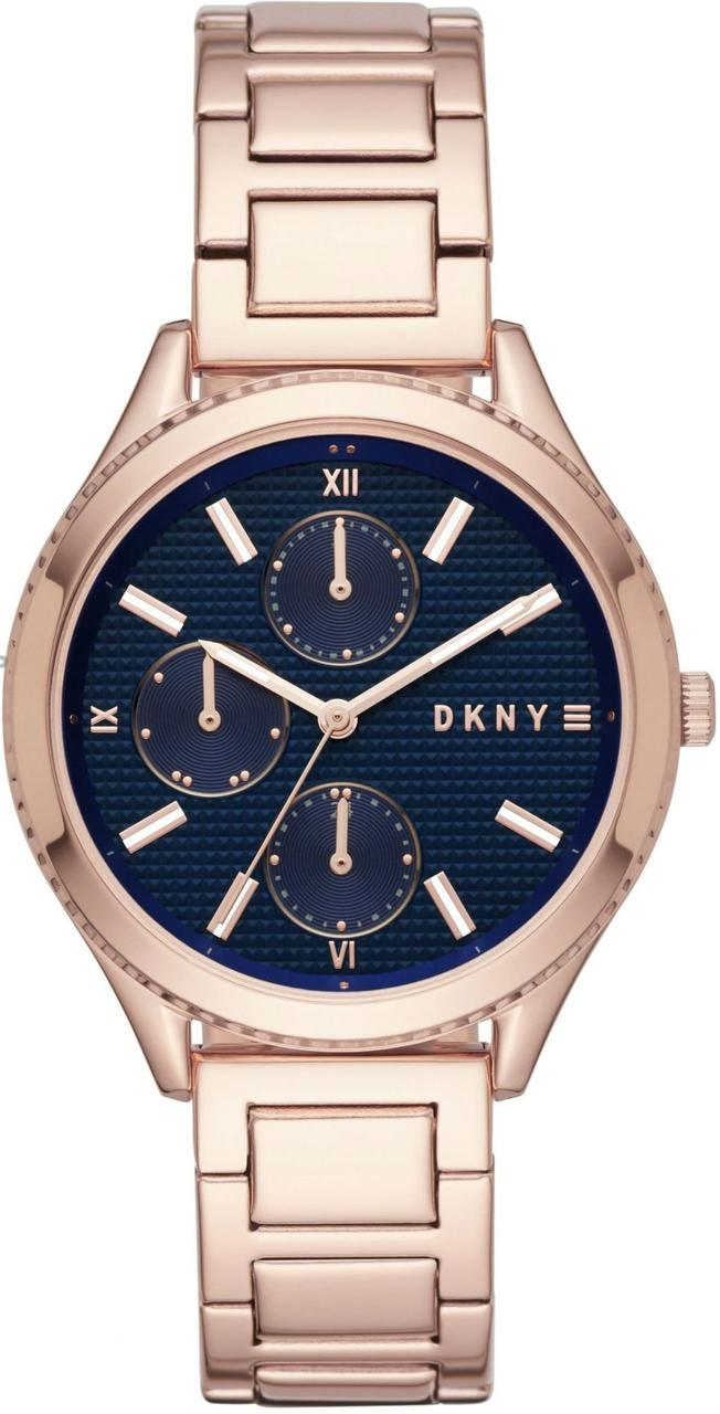 Часы наручные женские DKNY NY2661 кварцевые, с датой и днем недели, цвет розового золота, США