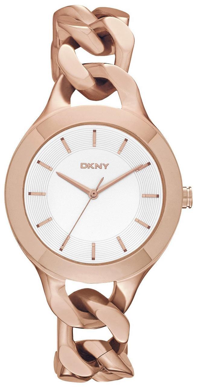 Часы наручные женские DKNY NY2218 кварцевые, браслет-цепочка, США