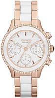 Часы-хронограф наручные женские DKNY NY8825 кварцевые, сталь/керамика, США