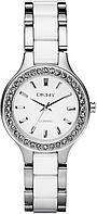 Часы наручные женские DKNY NY8139 кварцевые на браслете, сталь/керамика, США