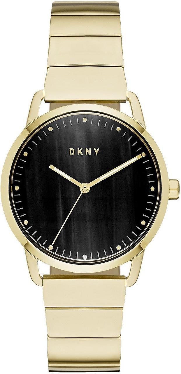 Часы наручные женские DKNY NY2756 кварцевые на браслете, цвет желтого золота, США