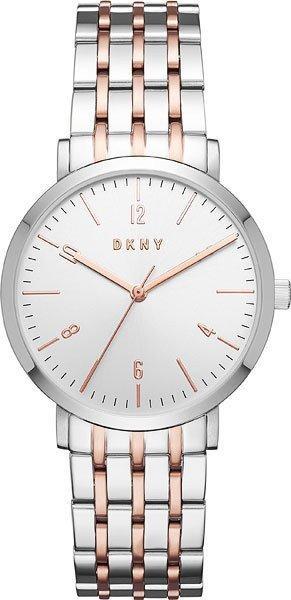Часы наручные женские DKNY NY2651 кварцевые на браслете, биколорные, США