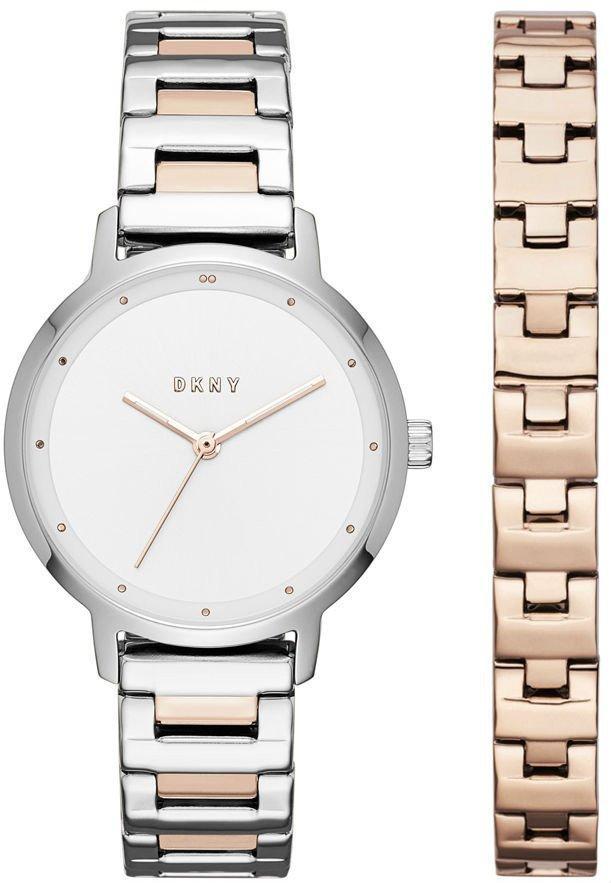 Часы наручные женские DKNY NY2643 кварцевые на браслете + дополнительный браслет в подарок, США
