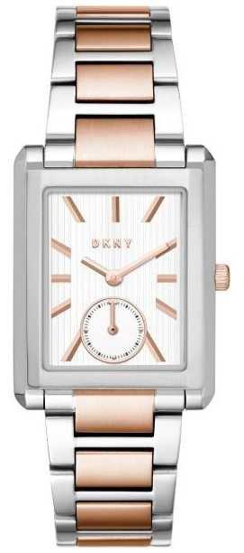 Часы наручные женские DKNY NY2624 кварцевые с прямоугольным корпусом, биколорные, США
