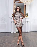 Платье женское с сеткой 42-44,44-46