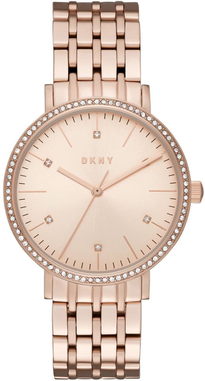 Часы наручные женские DKNY NY2608 кварцевые на браслете, цвет розового золота, США