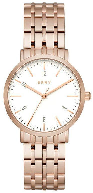 Часы наручные женские DKNY NY2504 кварцевые на браслете, цвет розового золота, США