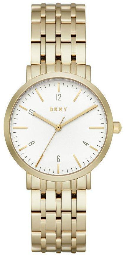 Часы наручные женские DKNY NY2503 кварцевые на браслете, цвет желтого золота, США