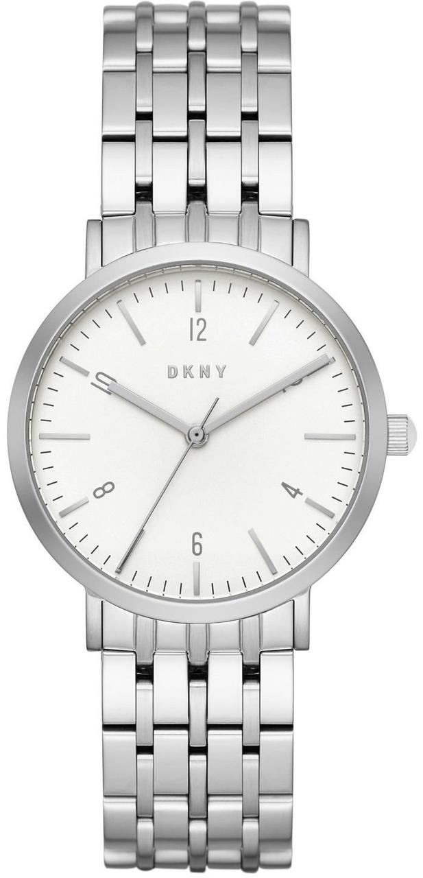 Часы наручные женские DKNY NY2502 кварцевые на браслете, серебристые, США